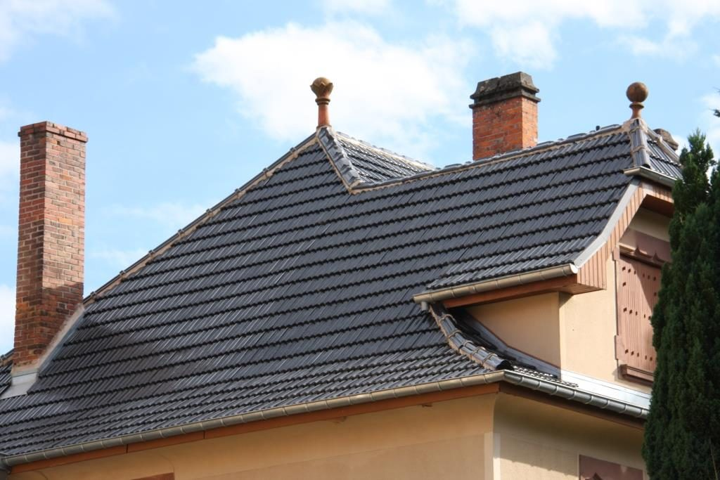 Project Black Glazed French Z1 Roof Tile Glazed Rooftiles
